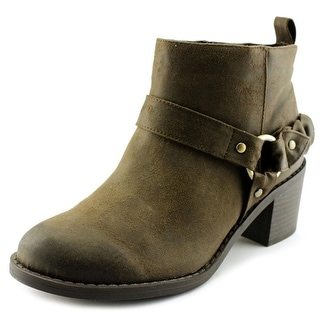 Carlos by Carlos Santana Vancouver Women  Round Toe Synthetic Brown Ankle Boot