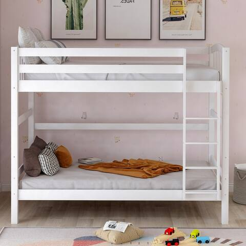 Twin over twin loft bed, can be separated (White)