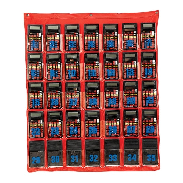 Learning Resources Calculator Storage Pocket Chart, 29 x 36 Inches