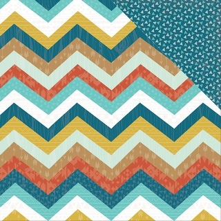 """Happy Camper Double-Sided Cardstock 12""""X12""""-Mountains"""