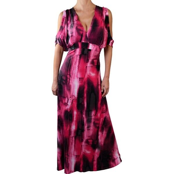Funfash Plus Size Pink Black Cold Open Shoulder Dress New Made in USA