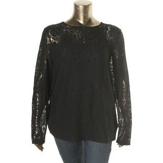 Ralph Lauren Womens Plus Casual Top Lace Long Sleeve - 3x