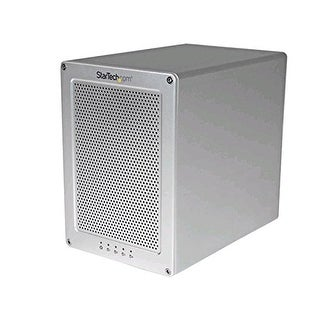 "Startech 4-Bay Thunderbolt 2 Hard Drive Enclosure With Raid  Quad-Bay 3.5"" Hdd Raid Enclosure - Sleek, Ultra Compac"