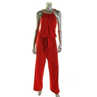 Xscape Womens Embellished Wide Leg Jumpsuit - 4