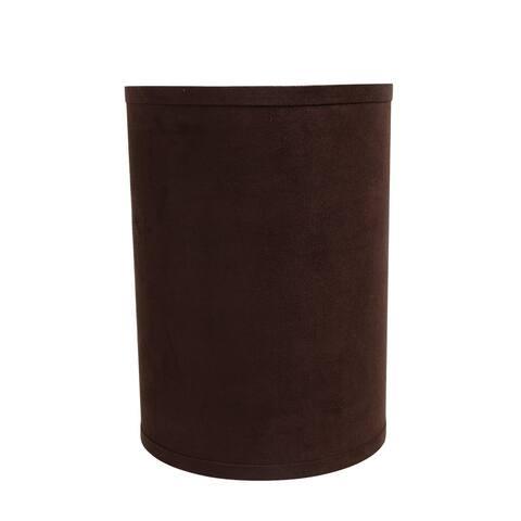 "Aspen Creative Hardback Drum (Cylinder) Shape Spider Construction Lamp Shade in Dark Brown (8"" x 8"" x 11"")"
