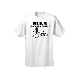 Men's T-Shirt Funny Guns Don't Kill People I Kill People 2nd Amendment S-5XL