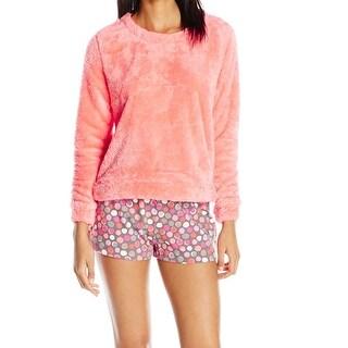 Hue NEW Pink Womens Size XL Marshmallow Boxer Pajama Sets Sleepwear