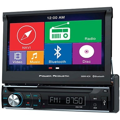 Din 7 Flip GPS BT Mobile 8 Receiver