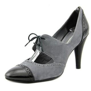 Via Spiga Kelis Women Cap Toe Leather Black Heels