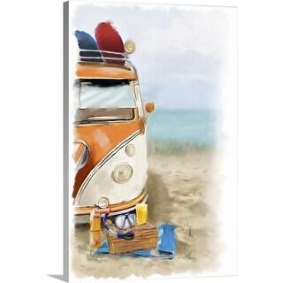 P.S. Art Studios Solid-Faced Canvas Print entitled Beach Fun