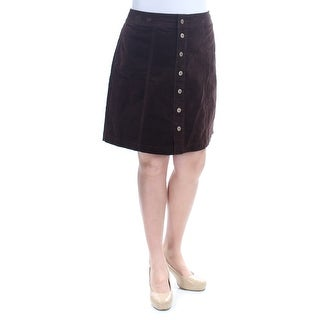 CHARTER CLUB $59 Womens New 1144 Brown Button Front Pencil Skirt 12 B+B