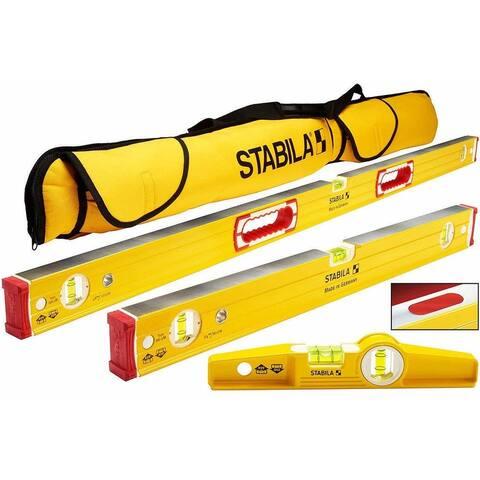 """Stabila 96M Magnetic Level Set Kit with 48""""/24"""" Levels Bundle"""