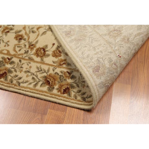 """Hand Knotted Botanical print Tan,Brown Oriental Area Rug Wool Transitional Oriental Area Rug (Runner) - 2'8"""" x 17'"""