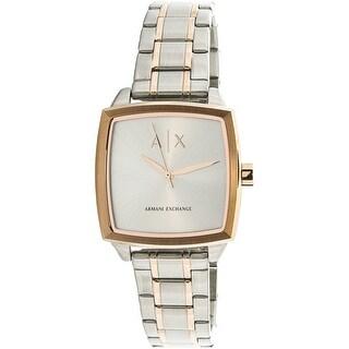 Armani Exchange Women's AX5449 Silver Stainless-Steel Fashion Watch