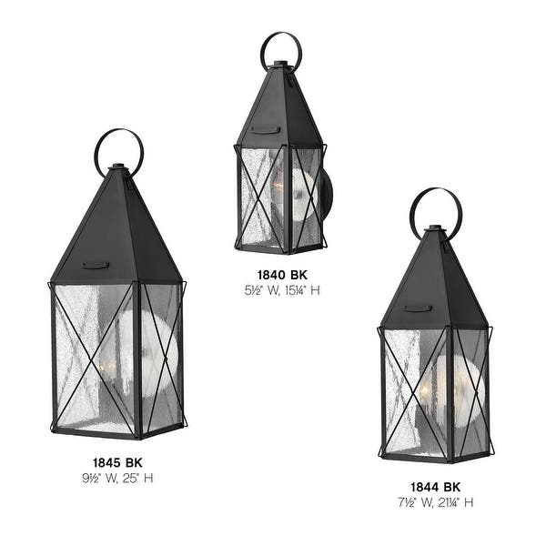 Hinkley Lighting 1845 York 25 Tall 3 Light Heritage Outdoor Wall Black Overstock 12964253
