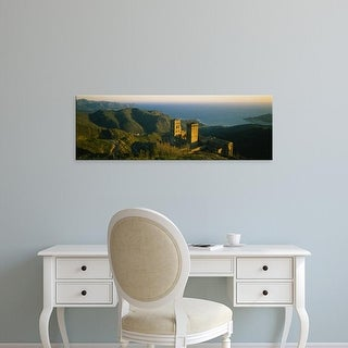 Easy Art Prints Panoramic Image 'High angle view of a monastery, San Pedro De Roda, Catalonia, Spain' Canvas Art