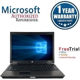 "Refurbished HP EliteBook 8740W 17"" Laptop Intel Core I5 520M 2.4G 4G DDR3 250G DVD Win 7 Professional 64 1 Year Warranty"