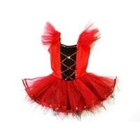 7d27242b4 Shop Red White Ruffle Feather Tutu Ballet Dress Girls S-L - Free ...