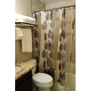 Excell Gossamer Leaf Shower Curtain