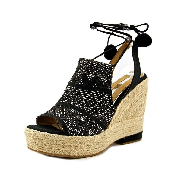 Maria Mare 66798 Women Raffia Multi Black/Black Sandals
