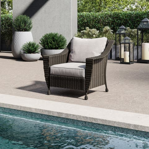 Patio Lounge Chair - Furniture - Handwoven Wicker - Rome Collection