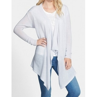 Nordstrom NEW Soft Gray Women's One Size Cardigan Cashmere Sweater