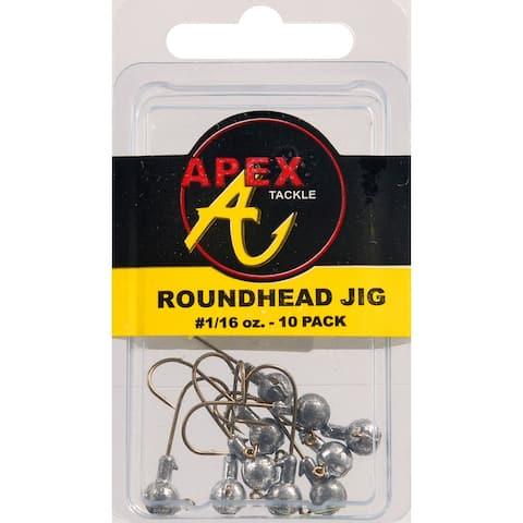 Apex ap116-10-8 jig heads 1/16oz 10pk plain