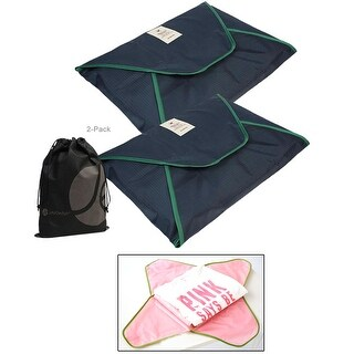 JAVOedge 2 Pack Set Shirt/Suit Fold Up Packing Envelope Style Storage Bag for Travel, Luggage