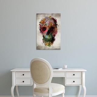 Easy Art Prints Ali Gulec's 'Skull II' Premium Canvas Art