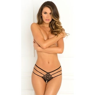Wanted And Wild Crotchless Panty, Strappy Lace Panty