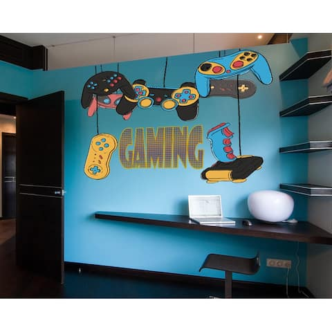 Game Controller Gaming Wall Decal, Game Controller Gaming Wall sticker, Game Controller Gaming wall decor