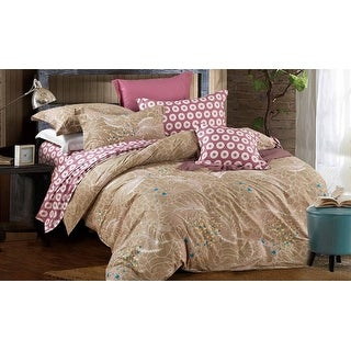 100% cotton reactive printing duvet cover set -Autumn (Queen)