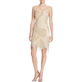 Aidan Mattox Womens Party Dress Beaded A-Line