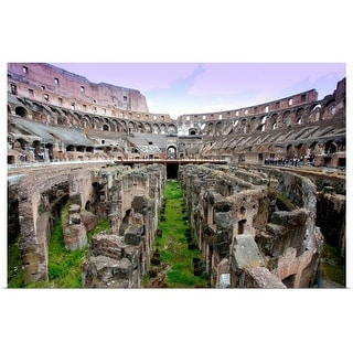 """""""Interior of the Colosseum at Rome"""" Poster Print"""
