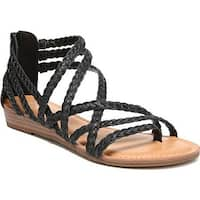 Carlos by Carlos Santana Women's Amara 2 Strappy Sandal Black Leather