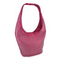 Chrome Studded Bucket Style Hobo Bag
