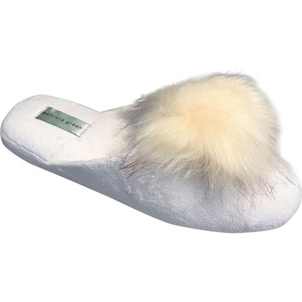 12359d8e8 Shop Patricia Green Women s Pretty Pouf Slipper White Ivory Microsuede -  Free Shipping Today - Overstock - 18085742