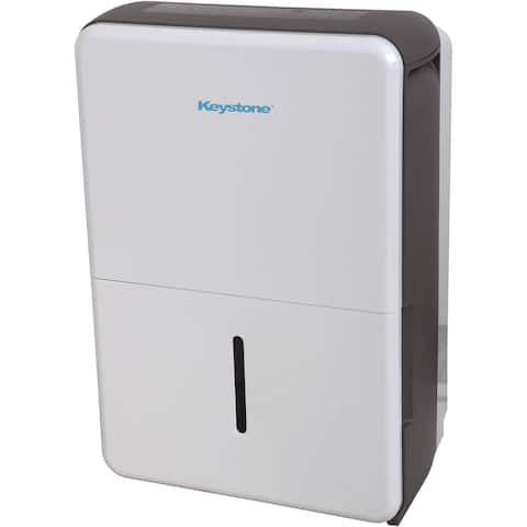 Keystone 50 Pint Dehumidifier with Electronic Controls and Built-In Pump