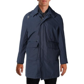 Michael Kors Mens Conway Classic Fit Outerwear Raincoat - S
