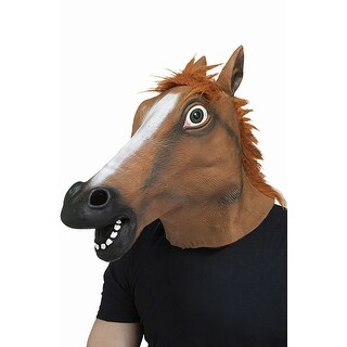 Fun World Horse Head Mask - Brown