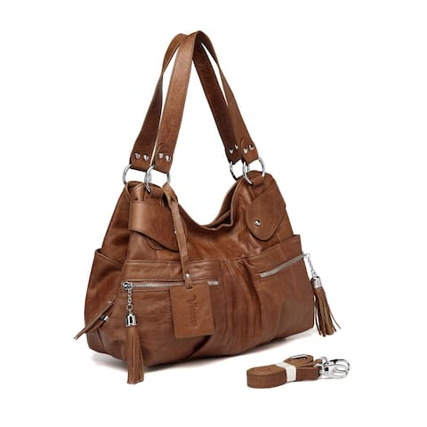 Vicenzo Leather Athena Italian Leather Handbag