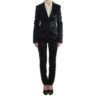 EXTE Black Stretch Two Button Suit - it40-s