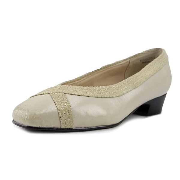 Mark Lemp By Walking Cradles Tracy Women W Square Toe Leather White Heels