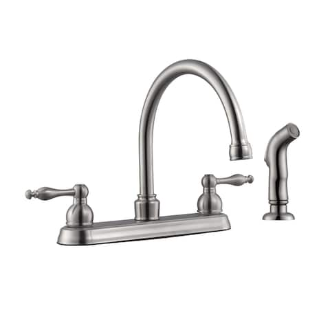 Design House 548370 Saratoga 1.8 GPM Standard Kitchen Faucet - Satin Nickel