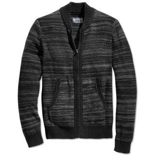 American Rag NEW Black Mens Size Small S Stripe Knit Full Zip Sweater