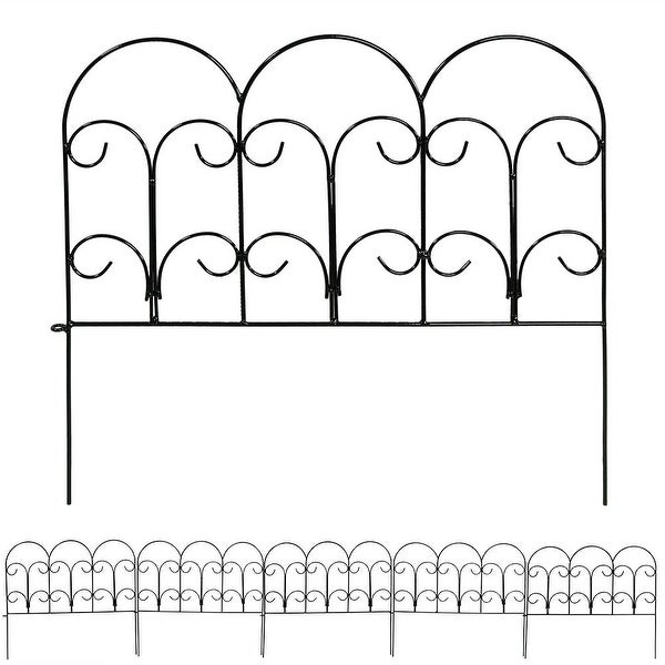 Sunnydaze Border Fence Panels, Set of 5 - Style Options Available