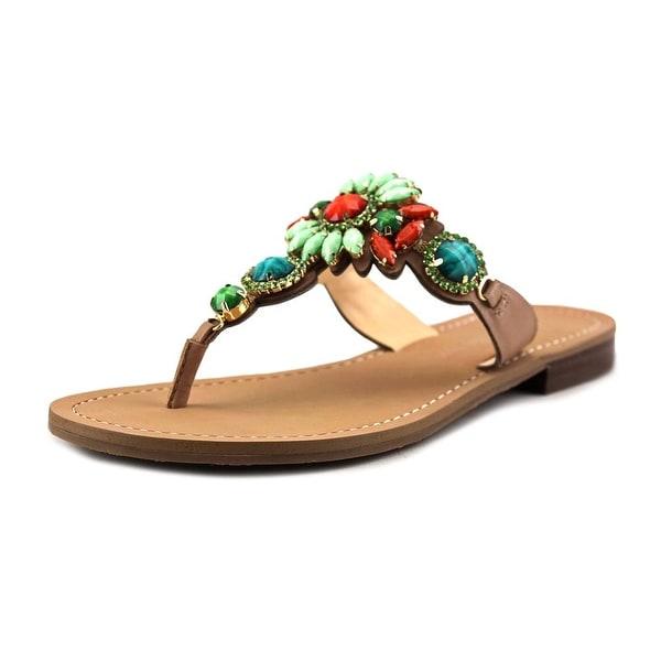 Ivanka Trump Palista Women Open Toe Leather Multi Color Slides Sandal