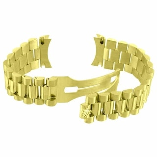 Mens President Watch Band For Rolex Day-Date 18k Yellow Gold 20mm 69 Grams - 18k yellow gold