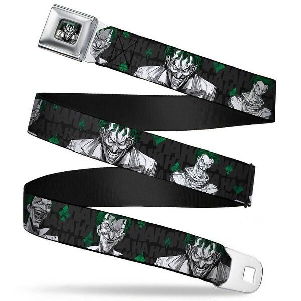 Joker Stare Full Color Black White Grays Green The Joker 4 Laughing Seatbelt Belt
