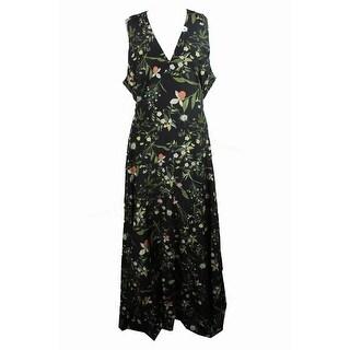 Rachel Roy Trendy Plus Size Black Combo Floral-Print Dress 22W